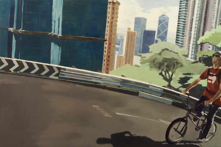 BMX 02 / oil on board / 81 x 121 cm / 2012