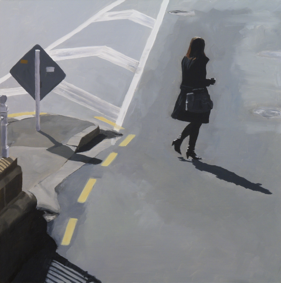 Black coat / oil on board / 61 x 61 cm / 2012 / Private Collection