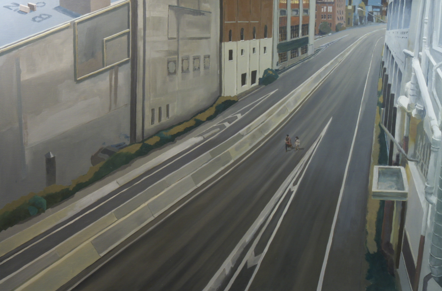 Fast road / oil on linen / 120 x 180cm / 2009
