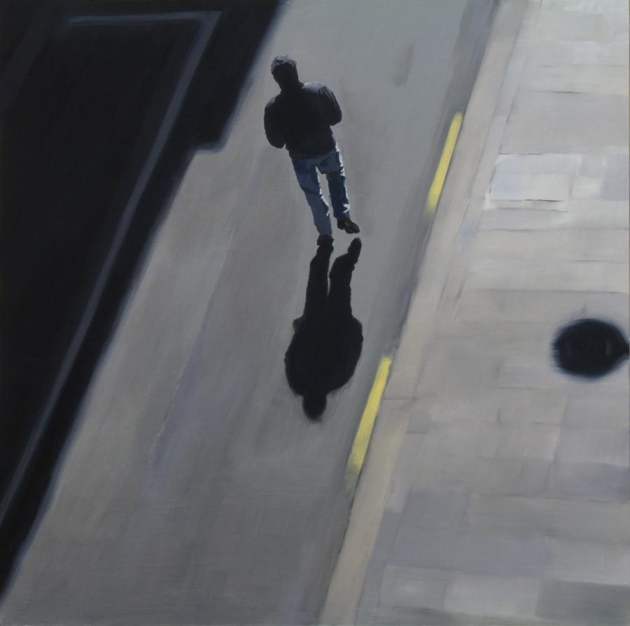 Hoodie / oil on board / 61 x 61 cm / 2012