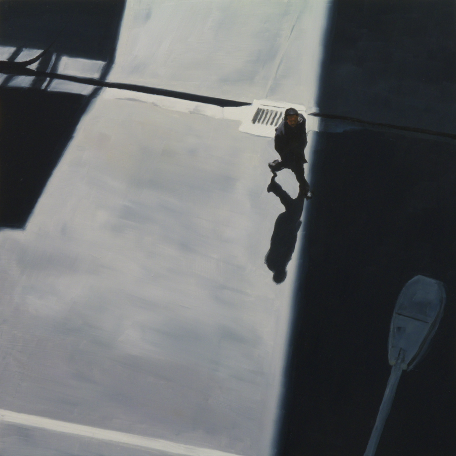 Man into shadow / oil on board / 43 x 43 cm / 2012 / Private Collection