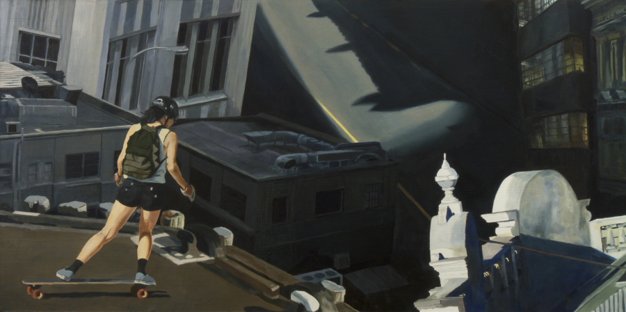 Out of Touch (left panel) / oil on board / 61 x 121 cm / 2012 / Private Collection