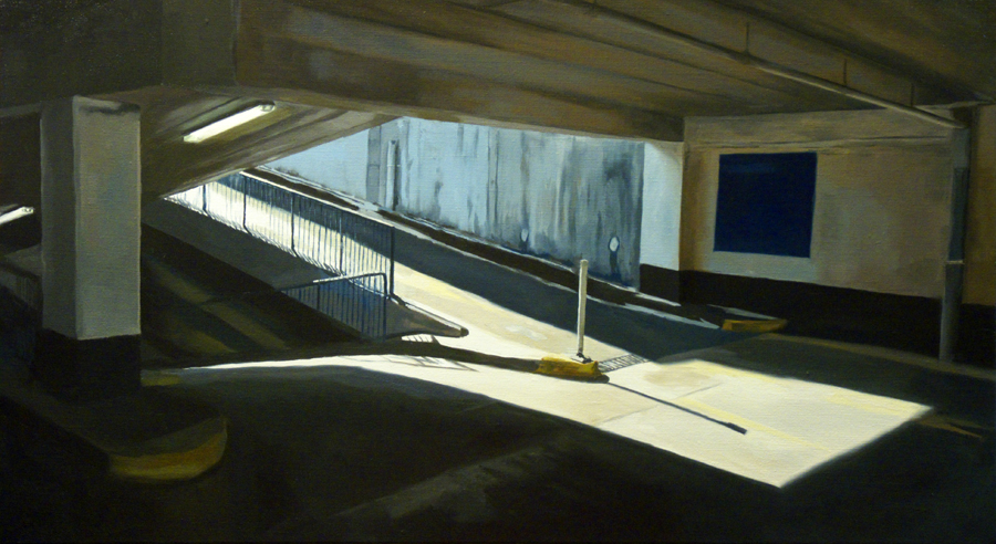 Rooftop access (CP4) / oil on linen / 50 x 91cm / 2010 / Private Collection