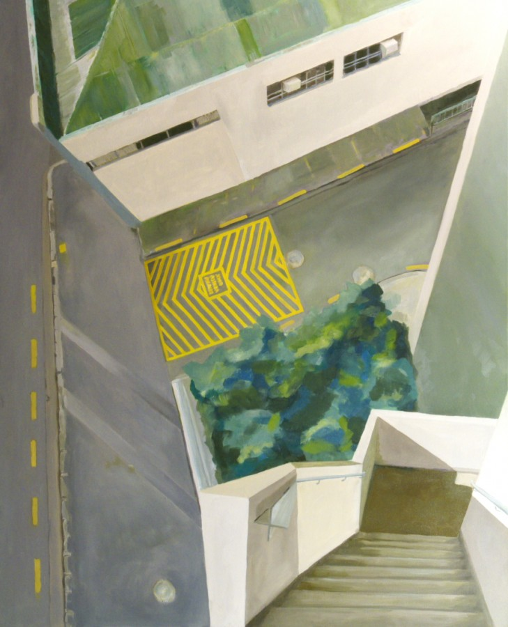 Steps / oil on canvas / 160 x 130cm / 2008 / Private Collection