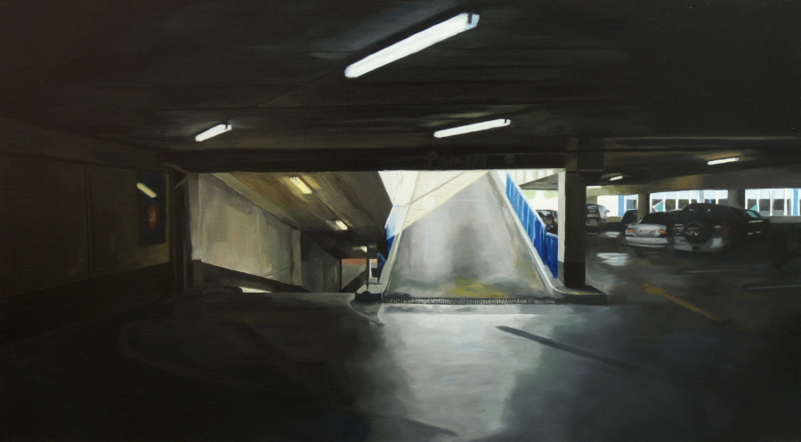 Upper ramp (CP6) / oil on linen / 76 x 137cm / 2010 / Private Collection