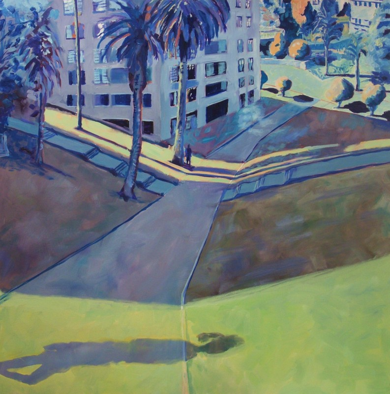 Urban park 5 / oil on canvas / 120 x 120cm / 2008 / Private Collection