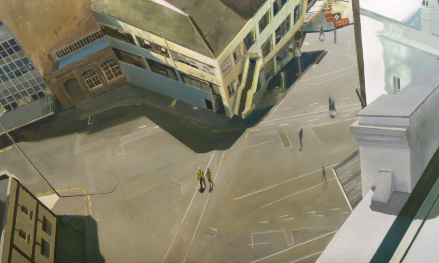 Walking space / oil on linen / 102 x 170cm / 2009 / Private Collection