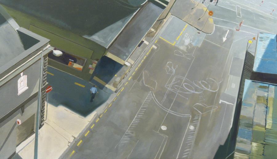 Z-space / oil on linen / 90 x 160cm / 2009