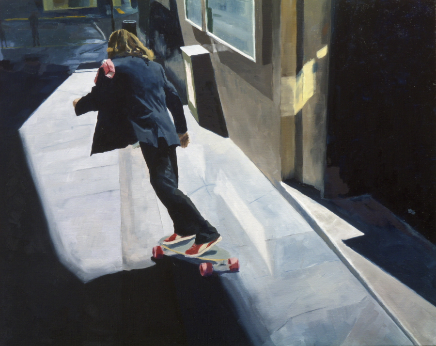 City Skater / oil on linen / 60 x 76 cm / 2014 / Private Collection
