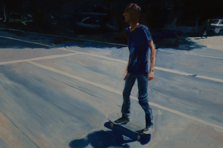 Young Skater / 38 x 60 cm / oil on board / 2016 / Private collection