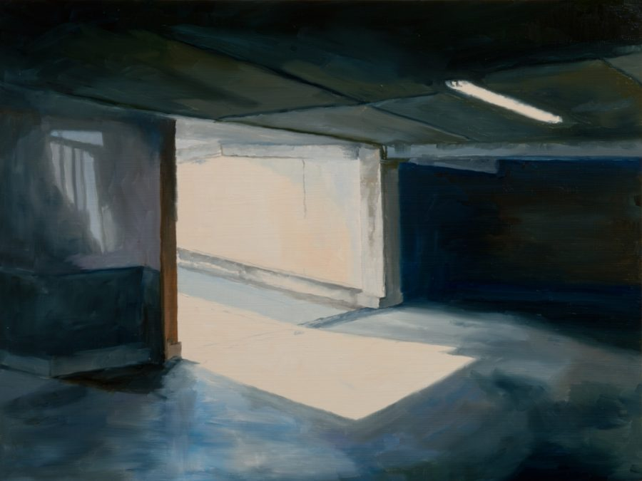 Car Park 09 / oil on board / 30 x 40 cm / 2016 / Private colection