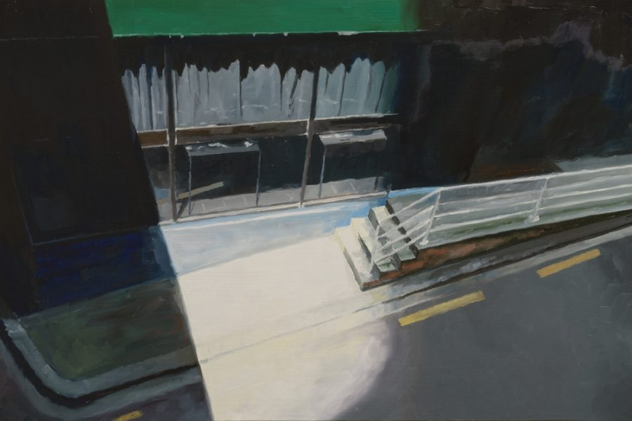 Below Albert Street / oil on board / 40 x 61 cm / 2016
