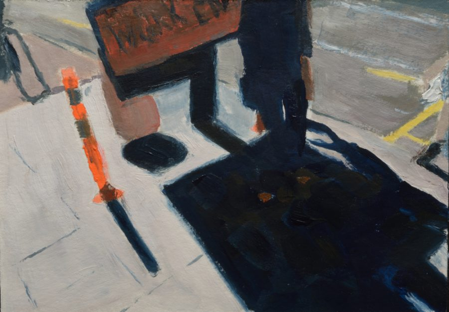City Works 01 / oil on paper / 105 x 148 mm