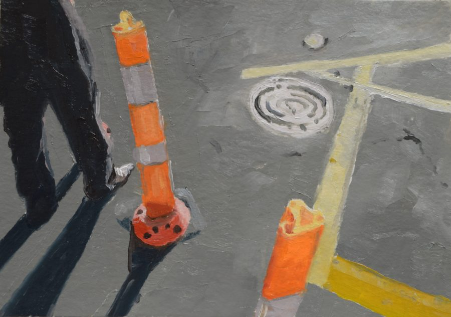 City Works 09 / oil on paper / 105 x 148 mm / Private collection