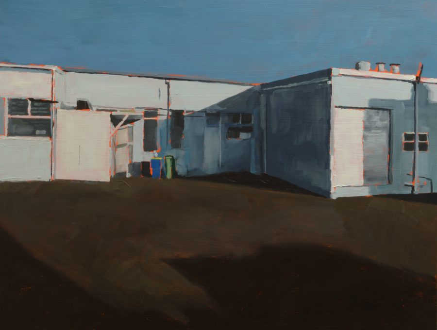 Northcote - empty car park / oil on board / 36 x 47 cm / 2018 / Private collection