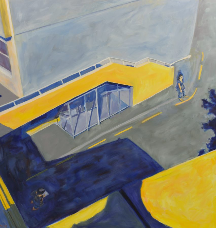 Urban Space 2 / oil on canvas / 122 x 120 cm / 2008