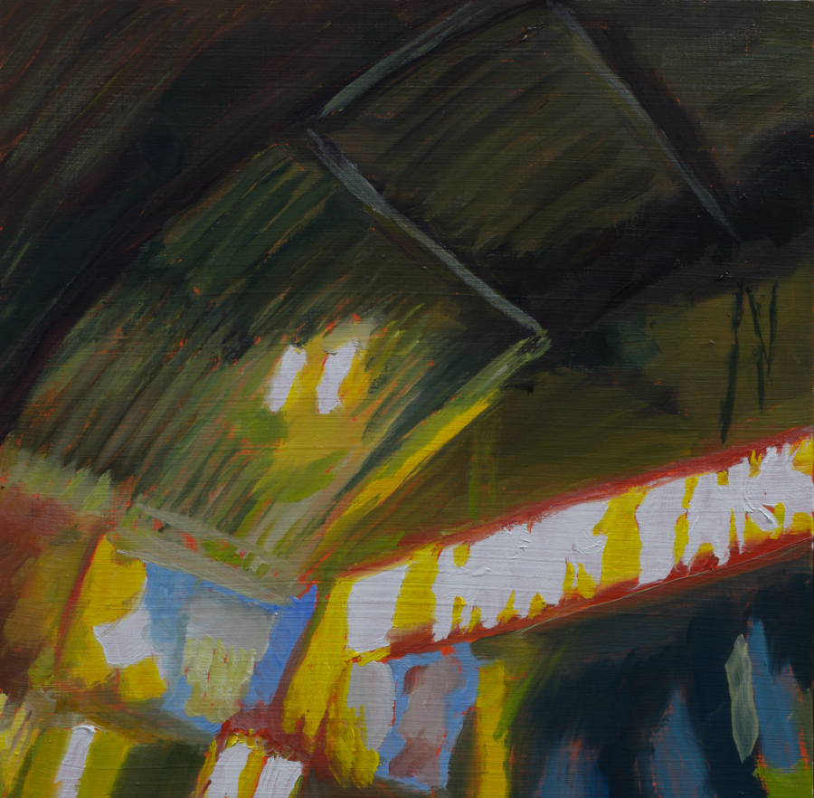 Queen St Liquor Bank / oil on board / 18 x 18 cm / 2018