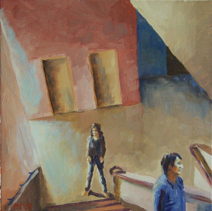 Stairwell / oil on canvas / 30 x 30 cm / 2008