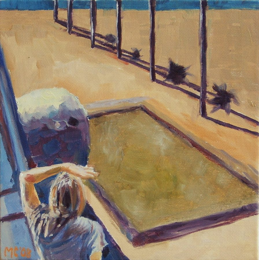 View / oil on canvas / 20 x 20 cm / 2008 / Private collection