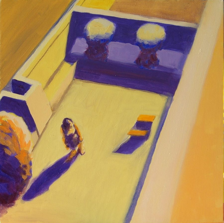 Woman and Box / oil on canvas / 20 x 20 cm / 2008 / Private collection