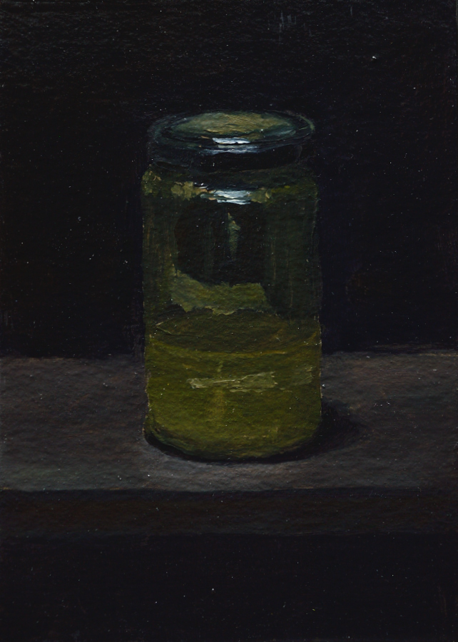 Artist's Materials 04 / Oil on card / size A6 / 2018