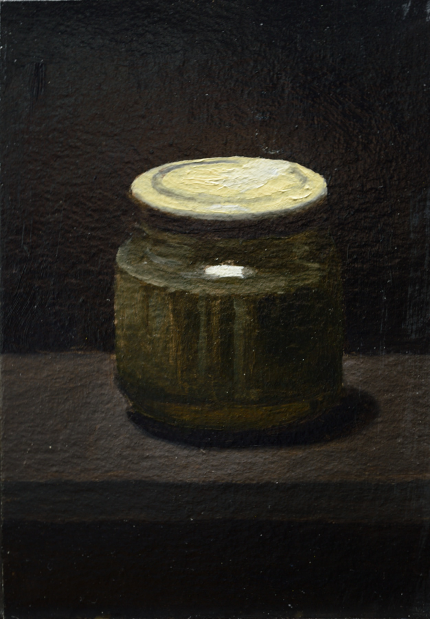 Artist's Materials 07 / Oil on card / size A6 / 2018