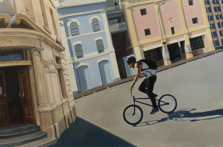 BMX 01 / oil on board / 81 x 121 cm / 2012