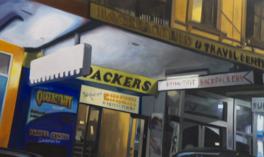 Backpackers / oil on linen / 91 x 152cm / 2010