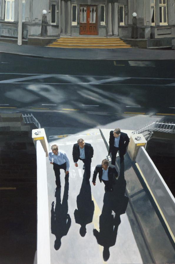 Bridge Triptych (centre panel) / oil on board / 122 x 81cm / 2011