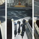 Bridge Triptych / oil on 3 boards / 122 x 240cm / 2011 / Private Collection thumbnail
