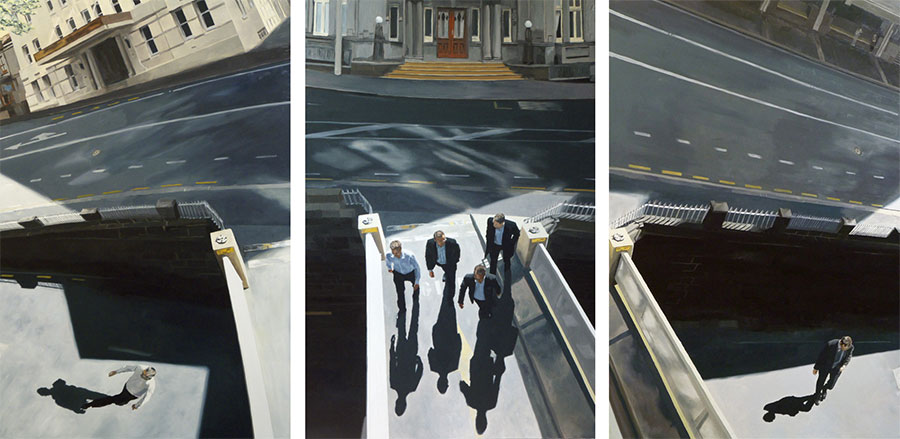 Bridge Triptych / oil on 3 boards / 122 x 240cm / 2011 / Private Collection