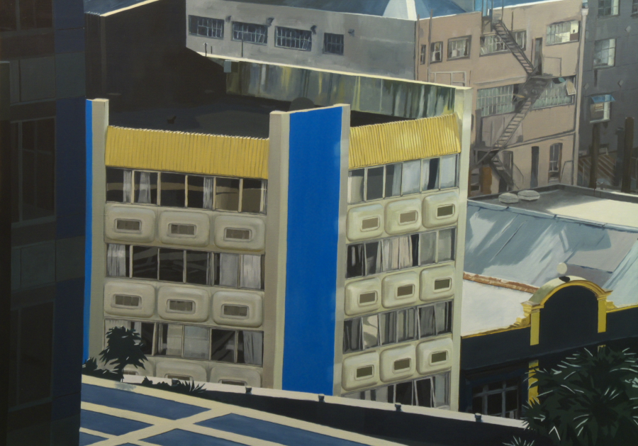 CP5 (blue building) / oil on linen / 120 x 170cm / 2010