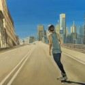 Expressway skater / oil on board / 81 x 121 cm / 2012 / Private Collection thumbnail