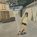 Skater girl / oil on board / 81 x 121 cm / 2012 thumbnail