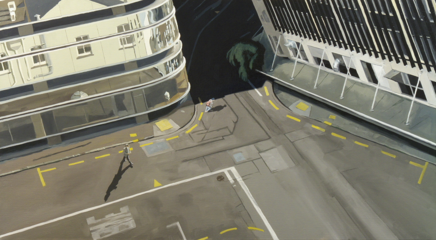 Strange Intersection / oil on linen / 76 x 137cm / 2010 / Private collection