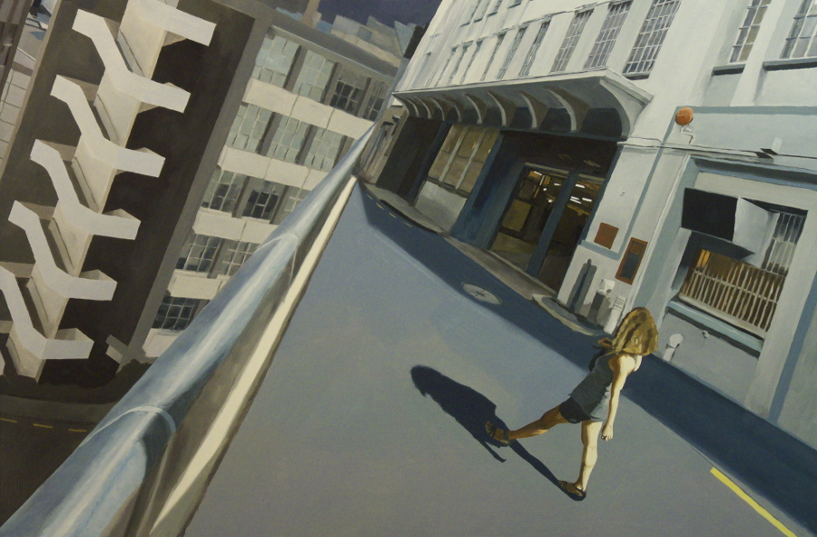 Striding figure / oil on board / 81 x 122cm / 2011 / Private Collection