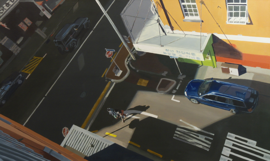 Untitled (york st) / oil on linen / 91 x 152cm / 2010