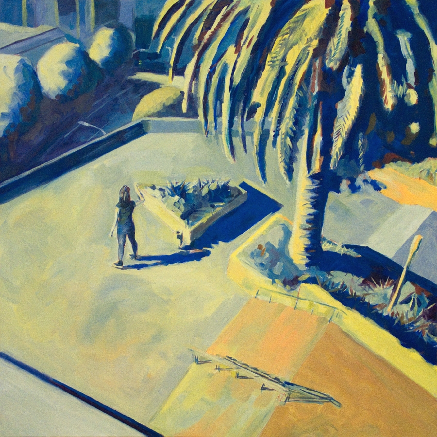 Urban park 4 / oil on canvas / 101 x 101cm / 2008 / Private Collection