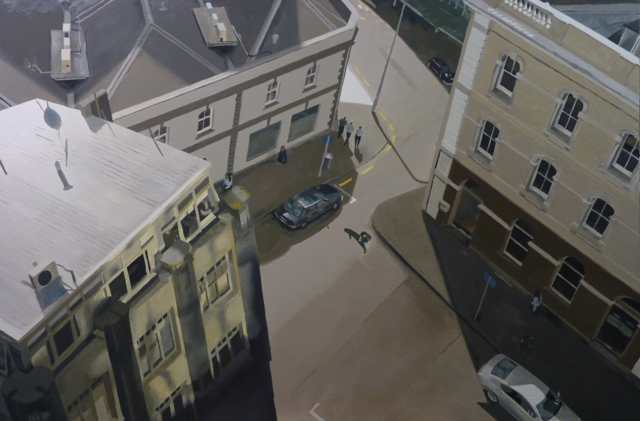 Urban rift / oil on linen / 91 x 137cm / 2010 / Private Collection