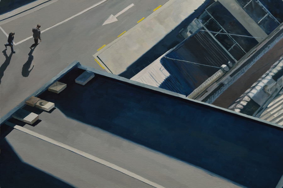 Right panel - Auckland Diptych / oil on linen / 80 x 110 cm / 2014 / Private Collection