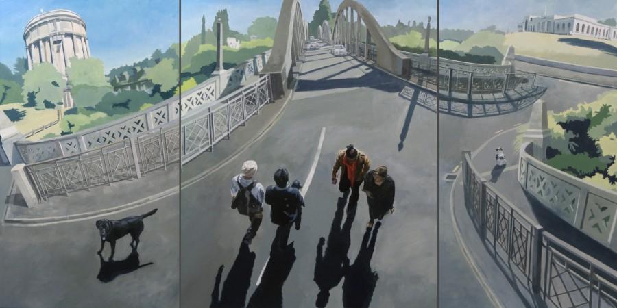 Hamilton Triptych / oil on boards / 120 x 240 cm / 2013 / Private Collection
