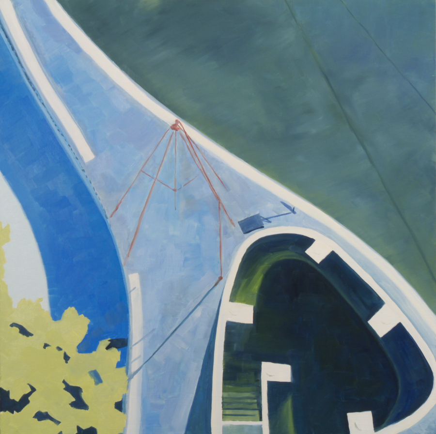 Pool 02 /oil on board / 61 x 61 cm / 2013 / Private Collection