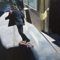 City Skater / oil on linen / 60 x 76 cm / 2014 / Private Collection thumbnail