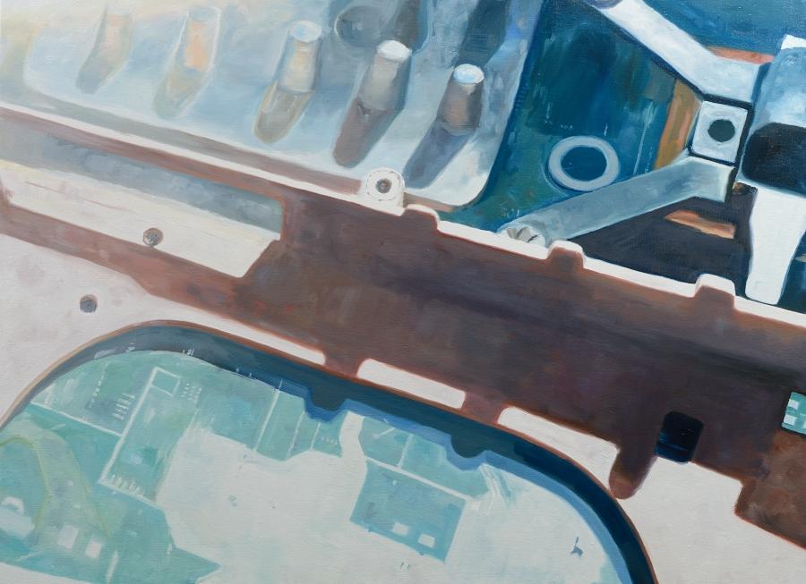 Laptop / oil on canvas / 820 x 111cm / 2015