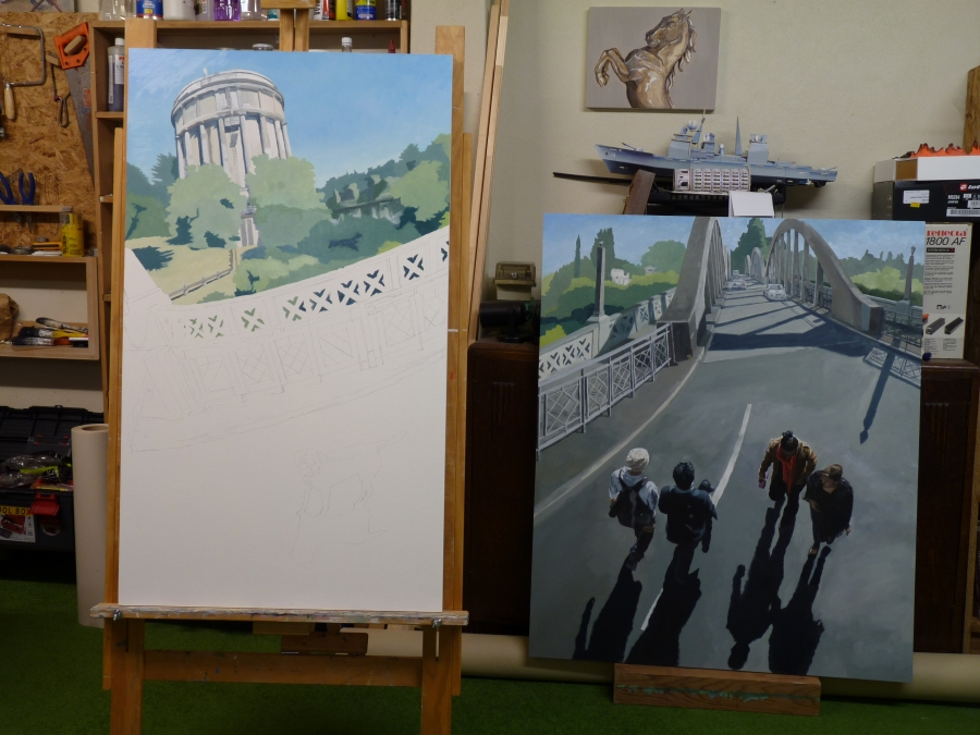 Hamilton Triptych in progress