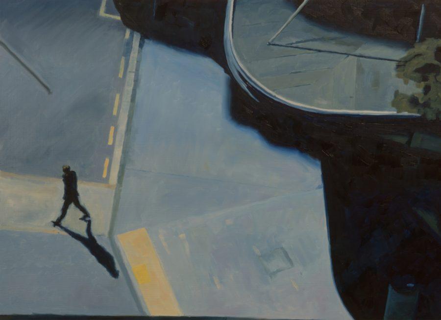 Pedestrian / 43 x 60 cm / oil on board / 2016 / Private collection