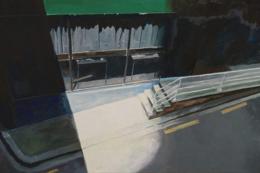Below Albert Street / oil on board / 40 x 61 cm / 2016