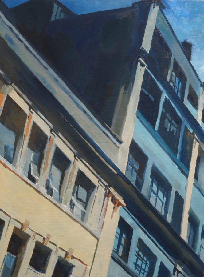 Wolfe Street / oil on board / 60 x 45 cm / 2017