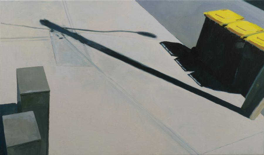 Yellow Bins / oil on canvas / 65 x 110 cm / 2017
