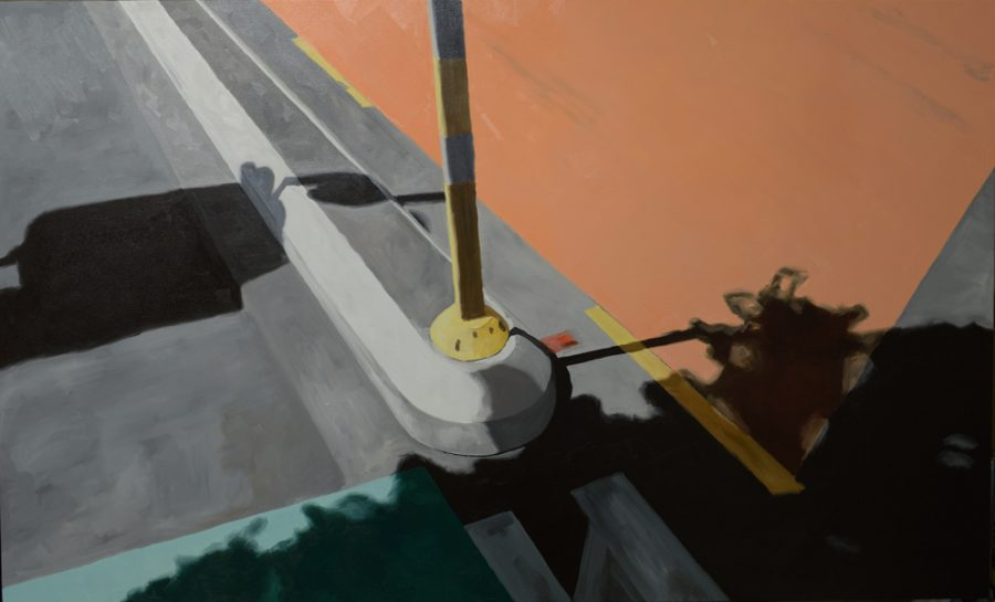Boundary Post / oil on canvas / 102 x 170 cm / 2017